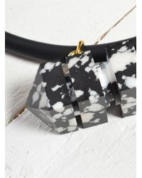 Lily Kamper | Black Marbled Resin Lo Pendant - Last One | Lyst