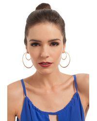 Trina Turk | Metallic Double Hoop Earring | Lyst