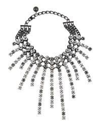 Lanvin - Metallic Crystal Strand Necklace - Lyst
