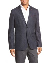 Ted Baker | Blue 'edeson' Textured Two-button Blazer for Men | Lyst