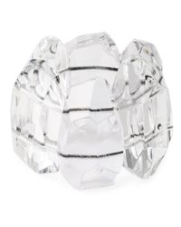 Monies - Metallic Oversized Stones Cuff - Lyst