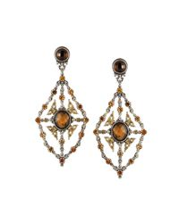 Konstantino | Metallic Sterling Silver & 18 Karat Gold Kite Chandelier Earring | Lyst