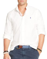 Polo Ralph Lauren | White Oxford Button Down Shirt - Regular Fit for Men | Lyst