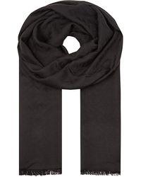 Fendi | Black Zucca-patterned Wool Scarf | Lyst
