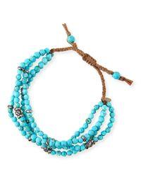 Tai | Blue 4-Strand Turquoise Beaded Bracelet | Lyst