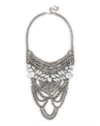 BaubleBar | Metallic Eleanor Chain Bib | Lyst