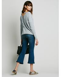 Free People - Blue Pull On Cropped Flare - Lyst