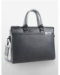 Calvin Klein | Black White Label Bradon City Commuter Bag | Lyst
