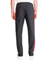 Dolce & Gabbana - Gray Contrast Stripe Drawstring Pants for Men - Lyst