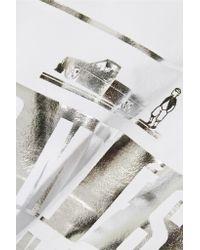 Brian Lichtenberg - White Homiés Advisory Foiled Cotton-jersey Tank - Lyst