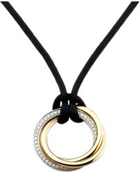 Cartier | Metallic Trinity De 18ct Gold And Diamond Pendant Necklace | Lyst
