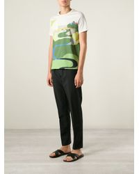 J.W.Anderson | Multicolor Landscape Print T-Shirt for Men | Lyst