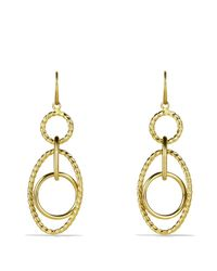 David Yurman - Yellow Mobile Small Link Earrings In Gold - Lyst