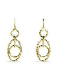 David Yurman | Yellow Mobile Small Link Earrings In Gold | Lyst