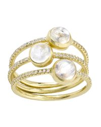 Irene Neuwirth | Metallic Rainbow Moonstone Ring | Lyst