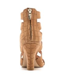 Sigerson Morrison | Brown Vernice Wedge Sandals | Lyst