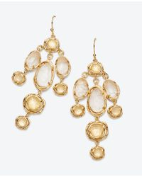 Ann Taylor | Metallic Multi Crystal Chandelier Earrings | Lyst