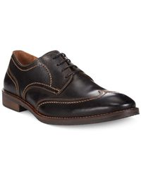 Johnston & Murphy - Brown Jarrell Wing-Tip Oxfords for Men - Lyst