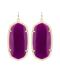 Kendra Scott | Danielle Earrings, Purple Jade | Lyst