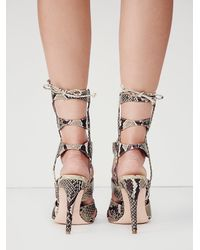 Free People | Natural J/slides Womens Centennial Lace Up Heel | Lyst