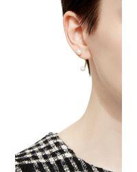 Delfina Delettrez - Metallic Gold Double Pearl Earring - Lyst