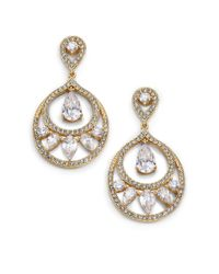 Adriana Orsini | Metallic Nested Teardrop Earrings/goldtone | Lyst