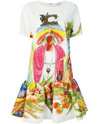 Stella Jean - White Haitian Print Dress - Lyst