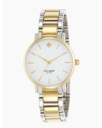 kate spade new york - Metallic Gramercy Watch - Lyst
