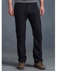 John Varvatos | Black Linen Authentic Jean for Men | Lyst