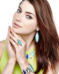 Kendra Scott - Blue Joelle Turquoise Marquise Earrings - Lyst
