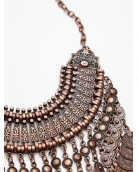 Free People - Metallic Antalya Coin Collar - Lyst