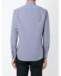 Etro - Blue Gingham Check Shirt for Men - Lyst