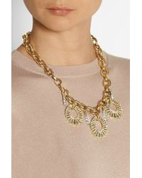 Lulu Frost - Metallic Oval Lumiere Gold-Plated Crystal Necklace - Lyst