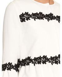 Giambattista Valli - White Embroidered Peplum Knit Cardigan - Lyst