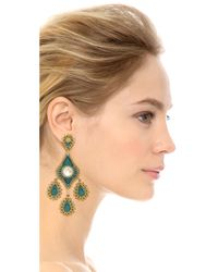 Miguel Ases | Alexa Earrings - Blue Multi | Lyst