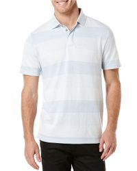 Perry Ellis | Blue Tonal Striped Polo for Men | Lyst
