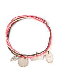 La Mome Bijou | Pink Charm Rope Bracelet | Lyst