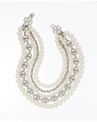 Ann Taylor | Metallic Heirloom Pearl Statement Necklace | Lyst