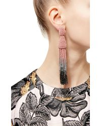 Oscar de la Renta - Purple Ombré Tassel Earrings - Lyst