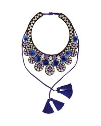 Shourouk | Blue Toboso Necklace | Lyst
