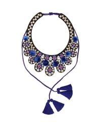 Shourouk - Blue Toboso Necklace - Lyst