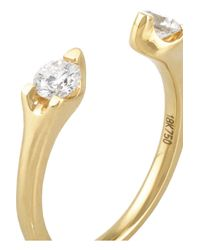 Anita Ko - Metallic Orbit 18-Karat Gold Diamond Ring - Lyst