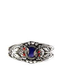 ASOS - Blue Festival Cuff Bracelet - Lyst