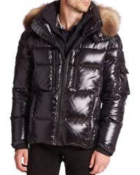 Sam. | Black Mountain Fur-trimmed Quilted Puffer Jacket for Men | Lyst
