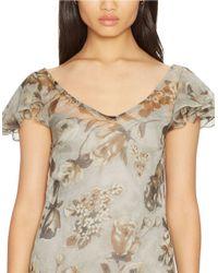 Lauren by Ralph Lauren | Multicolor Dropped-waist Floral Dress | Lyst