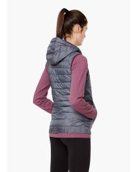 Mango - Gray Fitness & Running - Hooded Outdoor Gilet - Lyst