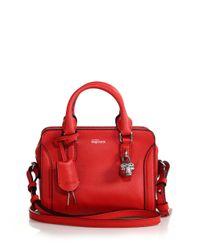 Alexander McQueen | Red Padlock Mini Leather Zip Satchel | Lyst