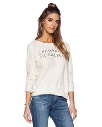 Daydreamer - Natural Champagne Please Sweatshirt - Lyst