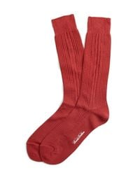 Brooks Brothers - Textured Cable Crew Socks for Men - Lyst
