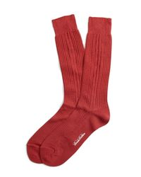 Brooks Brothers | Textured Cable Crew Socks for Men | Lyst